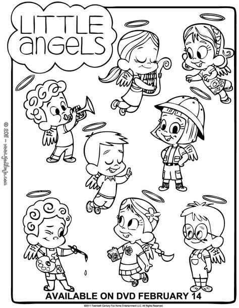 Little Angels Coloring Pages | little angels differences game coloring pages hellokids com