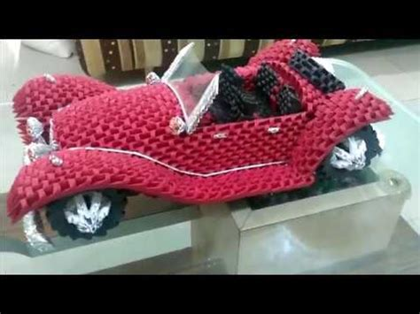 3d origami car amazing 3d origami car mercedes roadster 1936