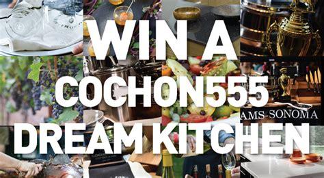 Dream Kitchen Sweepstakes 2015 - enter our cochon 555 dream kitchen sweepstakes williams sonoma taste