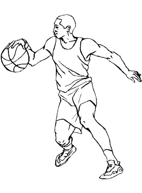coloring pages nba players coloriage sports basketball 224 colorier allofamille