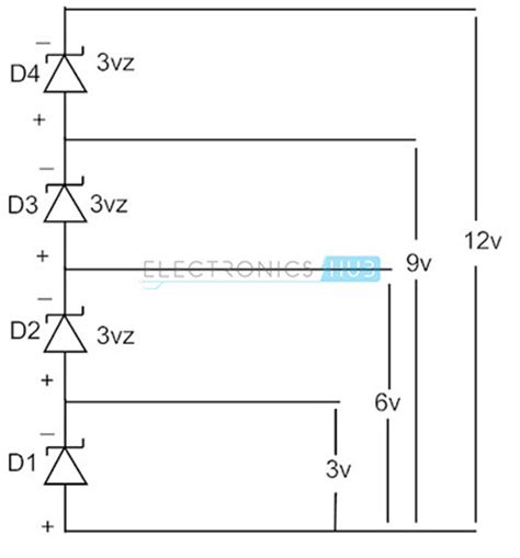 how to connect diodes in series zener diode as voltage regulator and its v i characteristics