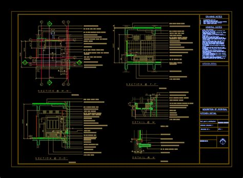 autocad section drawing working drawing kitchen detail dwg section for autocad