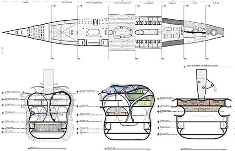 boat sections hull 5 3 4 a singles community jose belmontes archinect