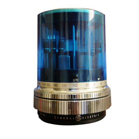 Space Age Electronics Blue Quot Police Light Quot General General Electric Lights