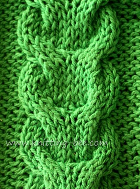 knit cable patterns link cable knitting stitch knitting bee