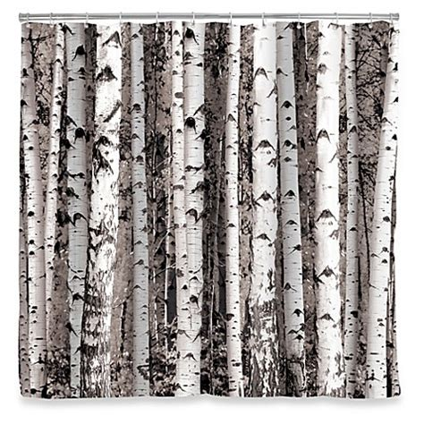 kikkerland shower curtain kikkerland 174 design birch shower curtain bed bath beyond