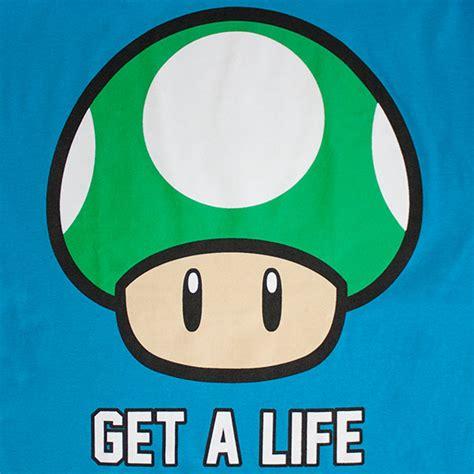 get a life the nintendo men s mushroom get a life tee shirt superheroden com
