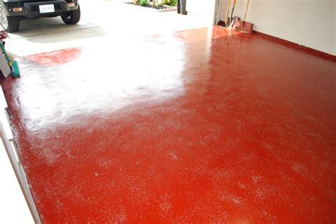 Red Epoxy Garage Floor. Chicago Epoxy Epoxy Floor Garage