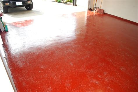 Red Epoxy Garage Floor. Chicago Epoxy Epoxy Floor Garage