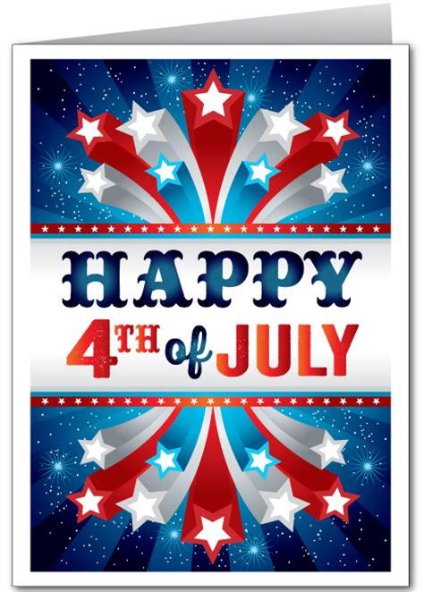 4th of july photo card template happy 4th july images text email templates messages