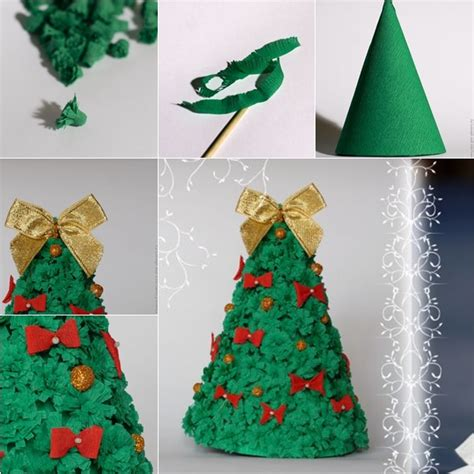 3d paper christmas tree with ribbon wonderful diy easy paper tree