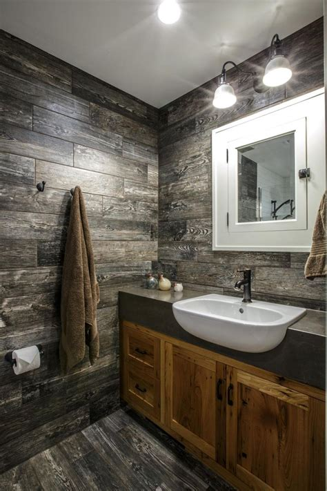 Wood Bathroom by Best 25 Bathroom Wood Wall Ideas On Plank