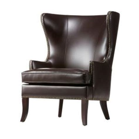 home decorators accent chairs home decorators collection brown wing back accent chair 1338800820 the home depot