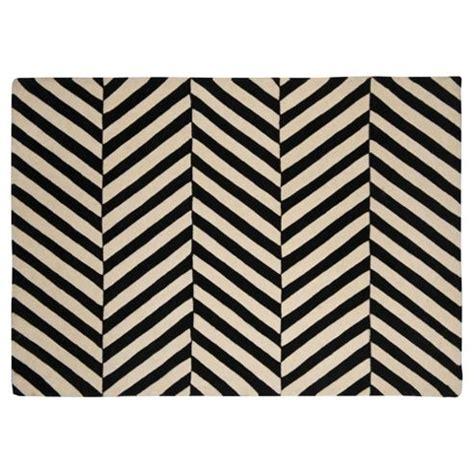 chevron rug black and white buy wool black and white herringbone chevron rug 100x150 from our rugs door mats carpet