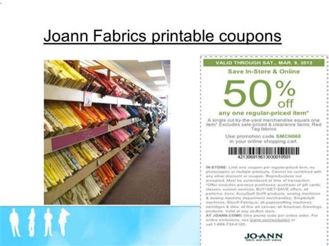 joann fabric printable application joann fabrics printable coupons