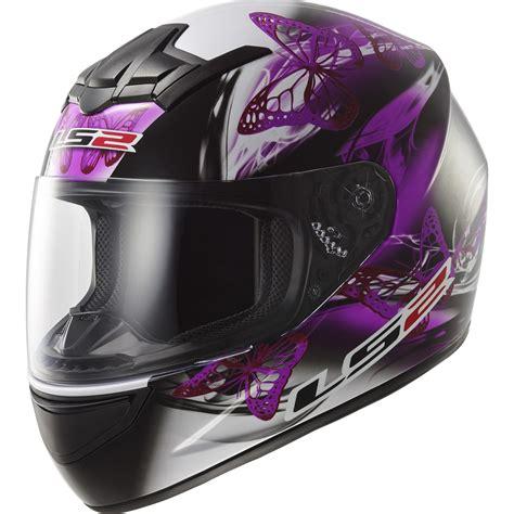 Motorradhelm Frauen by Ls2 Ff352 38 Rookie Flutter Black Purple Motorcycle Helmet