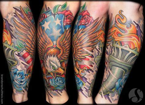 new school koi by brandon schultheis tattoonow patriotic lower leg sleeve by brandon schultheis tattoonow