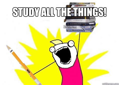 Do All The Things Meme - study all the things study all the things