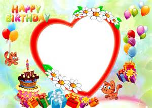 happy birthday photo frame template happy birthday photo frame png free