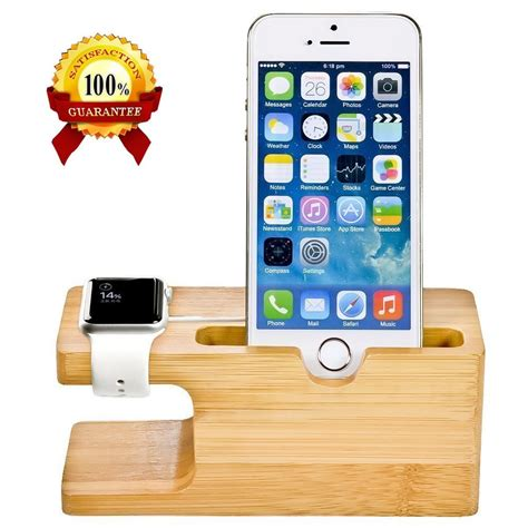 8 Cellphones Holders by Cell Phone Charger Dock With Bamboo Holder Desk Wood