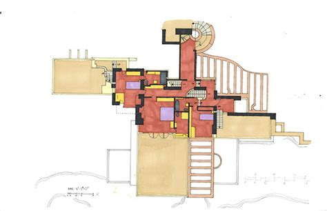 falling water floor plan the gallery for gt fallingwater floor plan
