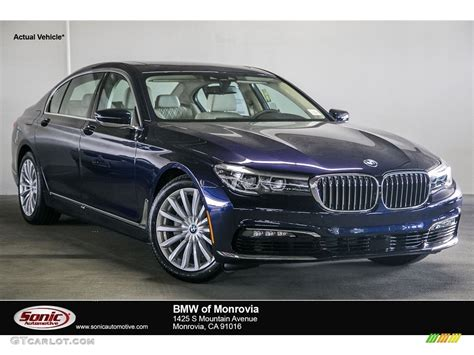 bmw blue colors 2017 imperial blue metallic bmw 7 series 740i sedan