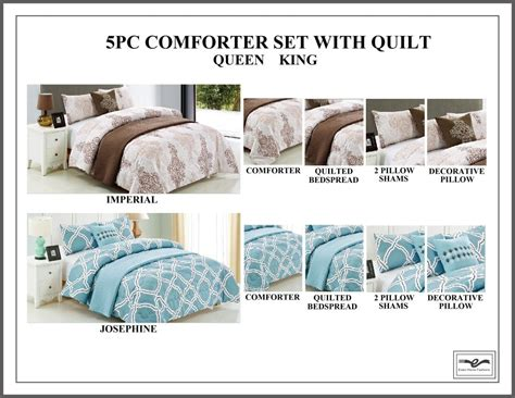 5pc comforter set with quilt estex