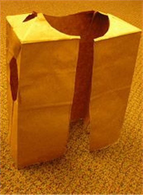 How To Make A Paper Bag Vest - american paper bag vest craft cutting