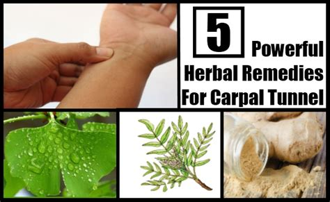 5 powerful herbal remedies for carpal tunnel how to