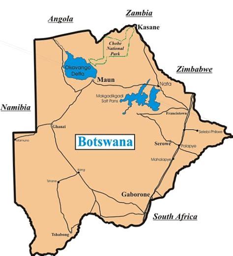 africa map botswana botswana useful information for your safari