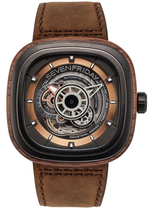 Seven Friday M2 2 Limited Edition Brown Leather Set Clone Ori sevenfriday p2b 03 w woody limited edition ablogtowatch