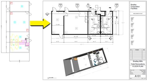 Floorplan Draw 4 hours 2d autocad to visually data rich revit