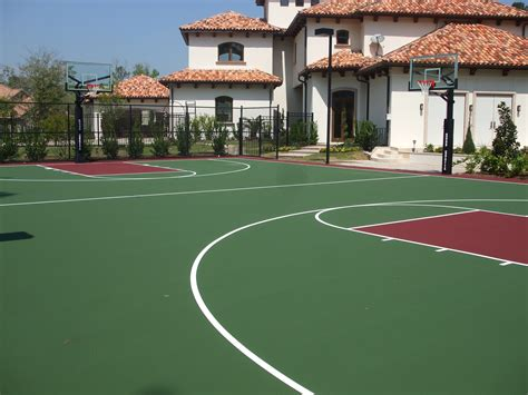backyard basketball court flooring landscaping ideas backyard basketball courts landscape