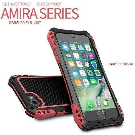r iphone 8 plus waterproof r just amira outdoor shockproof waterproof silicone carbon fiber metal bumper cover for