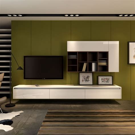floating wall mounted entertainment unit and wall storage