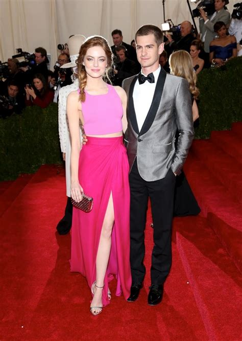 emma stone married emma stone and andrew garfield at the met gala 2014 lainey