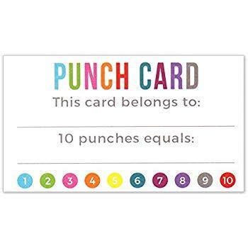 reward punch card template punch card incentive loyalty reward cards