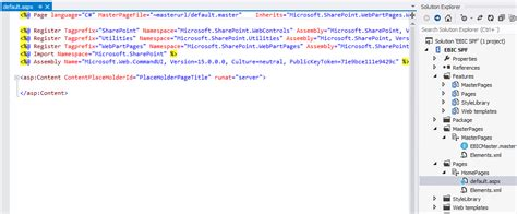 sharepoint page layout elements xml visual studio default aspx renaming sharepoint stack