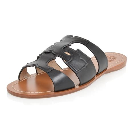 sandal outlet burch leather flat sandal spence outlet