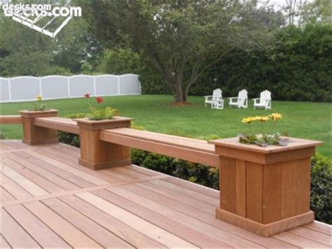 Planter Boxes With Bench deck planter boxes bench plans pdf woodworking