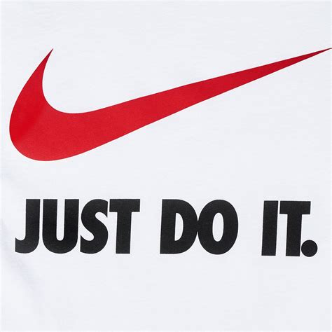 Tshirt Nike Just Do It shop white nike just do it swoosh t shirt for