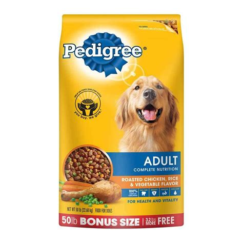 pedigree adult chicken flavor dry dog food  pounds