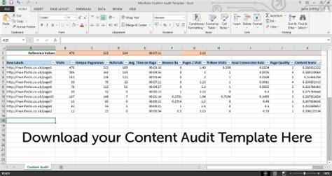 content audit template how to perform a content audit with free template
