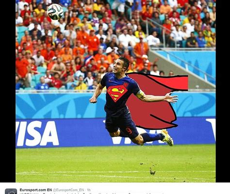 Van Persie Meme - robin van persie virals have flying dutchman as superman