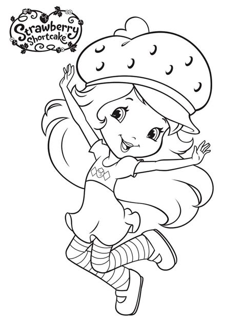 strawberry shortcake coloring page strawberry shortcake coloring pages free printable