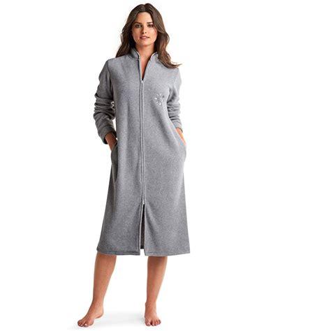 robe chambre polaire femme robe de chambre femme avec fermeture eclair galerie avec