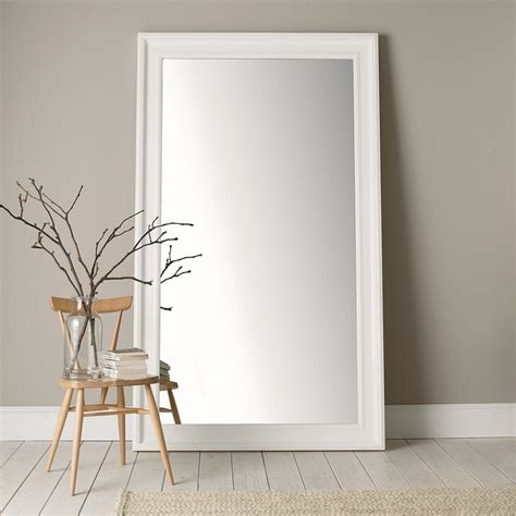Portland Patio Furniture by Portland Wide Full Length Mirror White Traditional