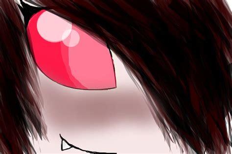 creepy eyes an anime speedpaint drawing by treena