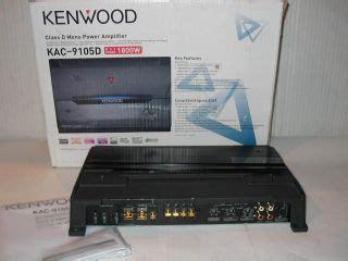 Kenwood Power Lifier Kac X5d 5 Ch Class D kenwood kac 5001ps class d mono power car lifier 1000 watt on popscreen