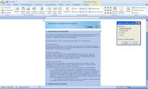 convertir imagenes pdf a texto word convertir tabla en texto en word 2007 ingenier 237 a y